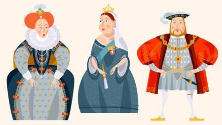 92653497-stock-vector-history-of-england-queen-elizabeth-i-king-henry-viii-queen-victoria-vector-illustration-